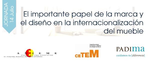 ANIEME y PADIMA organizan una Jornada sobre el papel del Diseño y la Marca en la Internacionalización