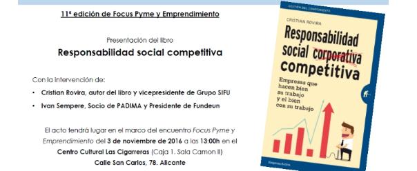 Presentación libro RESPONSABILIDAD SOCIAL COMPETITIVA
