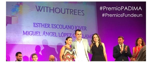 Los emprendedores Withoutrees premio PADIMA en Premios Fundeun 2017