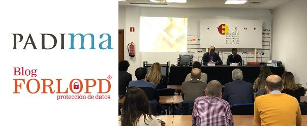 PADIMA colabora en la jornada sobre Ecommerce y Protección de Datos organizada por ANIEME y CETEM