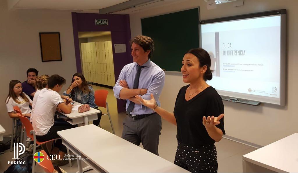 Sesión sobre Propiedad Intelectual, marketing y empresa en la Universidad CEU de Elche