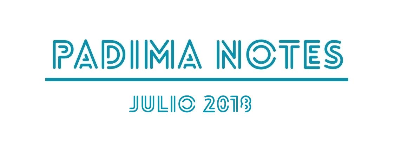PADIMA NOTES JULIO 2018