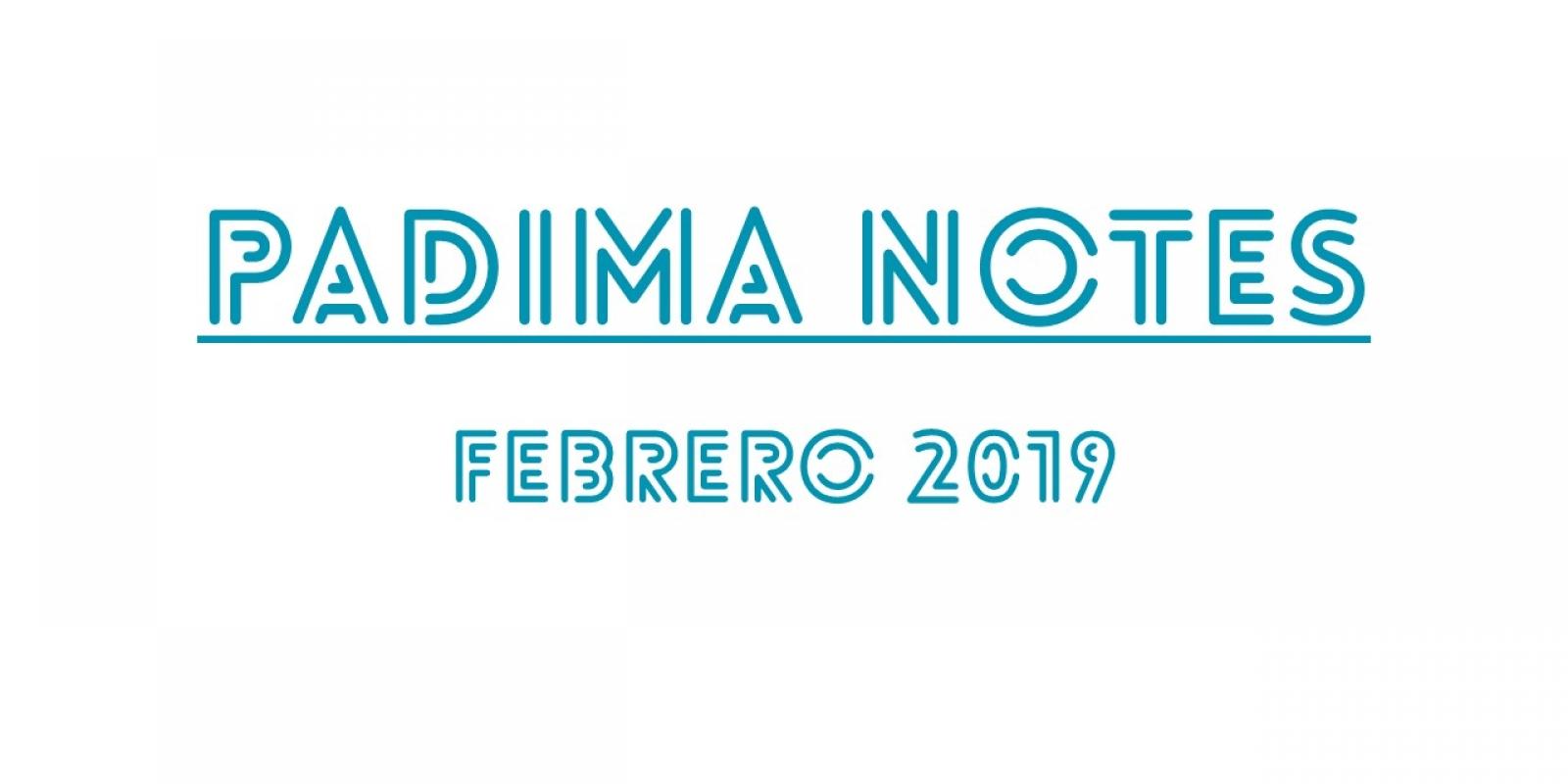 PADIMA NOTES. febrero